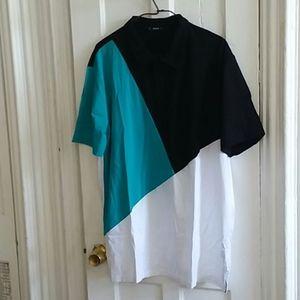 Shein Guys Block Polo Shirt size XXL